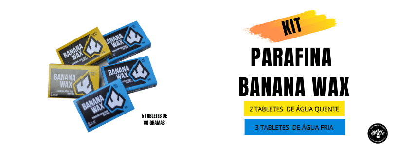 Kit Parafina Surf Banana Wax