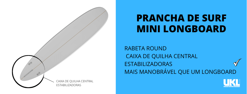 mini longboard triquilha