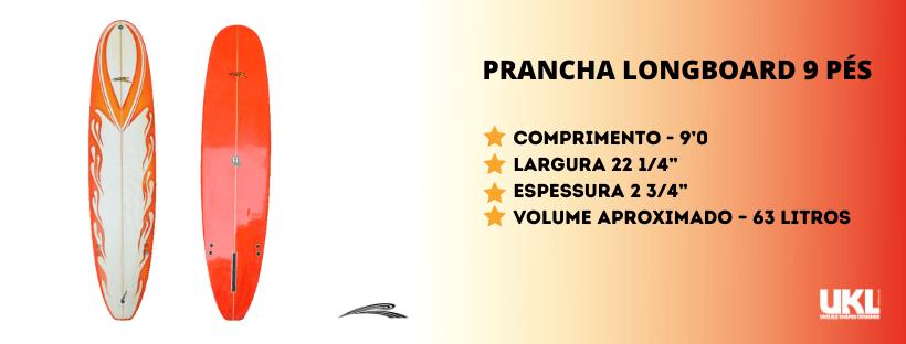 prancha longboard 9 pes