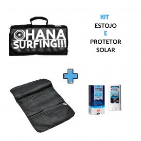 Kit Estojo Acessórios mais protetor solar Ponchos